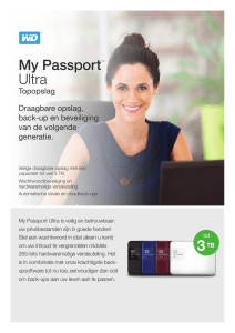 My Passport® Ultra Premium Storage - Product