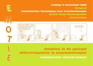 Emoties in de spiegel Affectregulatie in psychotherapie - Pe