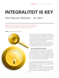 integraliteit is key