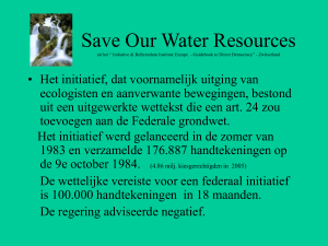 Save Our Water Resources