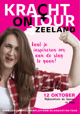 Kracht on Tour flyer