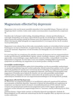 magnesium depressie