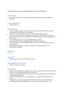 Websitelink 3 Protocol spoedafspraak chirurgie