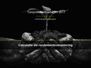 Calculatie als rendement verzekering