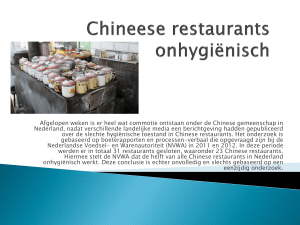 Chineese restaurants onhygiënisch