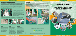 Diensten Repair Care - Repair Care International