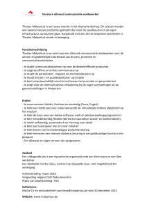 Vacature allround communicatie medewerker Theater Malpertuis is
