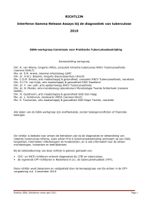 RICHTLIJN Interferon Gamma Release Assays bij de diagnostiek