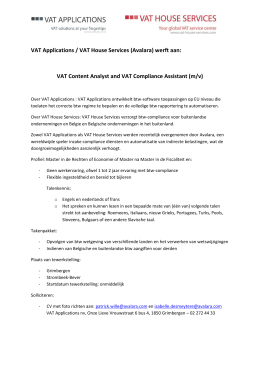 VAT Applications / VAT House Services (Avalara)