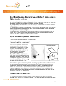 Sentinel node (schildwachtklier) procedure