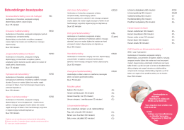 Behandelingen beautysalon