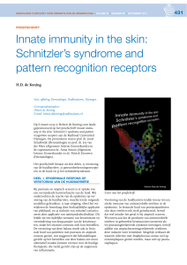 Innate immunity in the skin: Schnitzler`s syndrome and