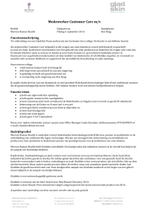 Medewerker Customer Care m/v