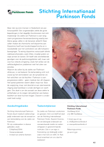 Stichting Internationaal Parkinson Fonds