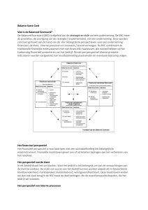 Balanced Scorecard - Professionaliseren