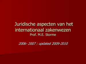 recht van de internationale handel