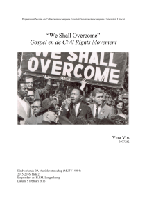 """We Shall Overcome"" Gospel en de Civil Rights Movement"