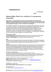 Human Rights Watch voor voetlicht in Verzetsmuseum Amsterdam