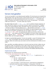 Verven met getallen - International Olympiad in Informatics