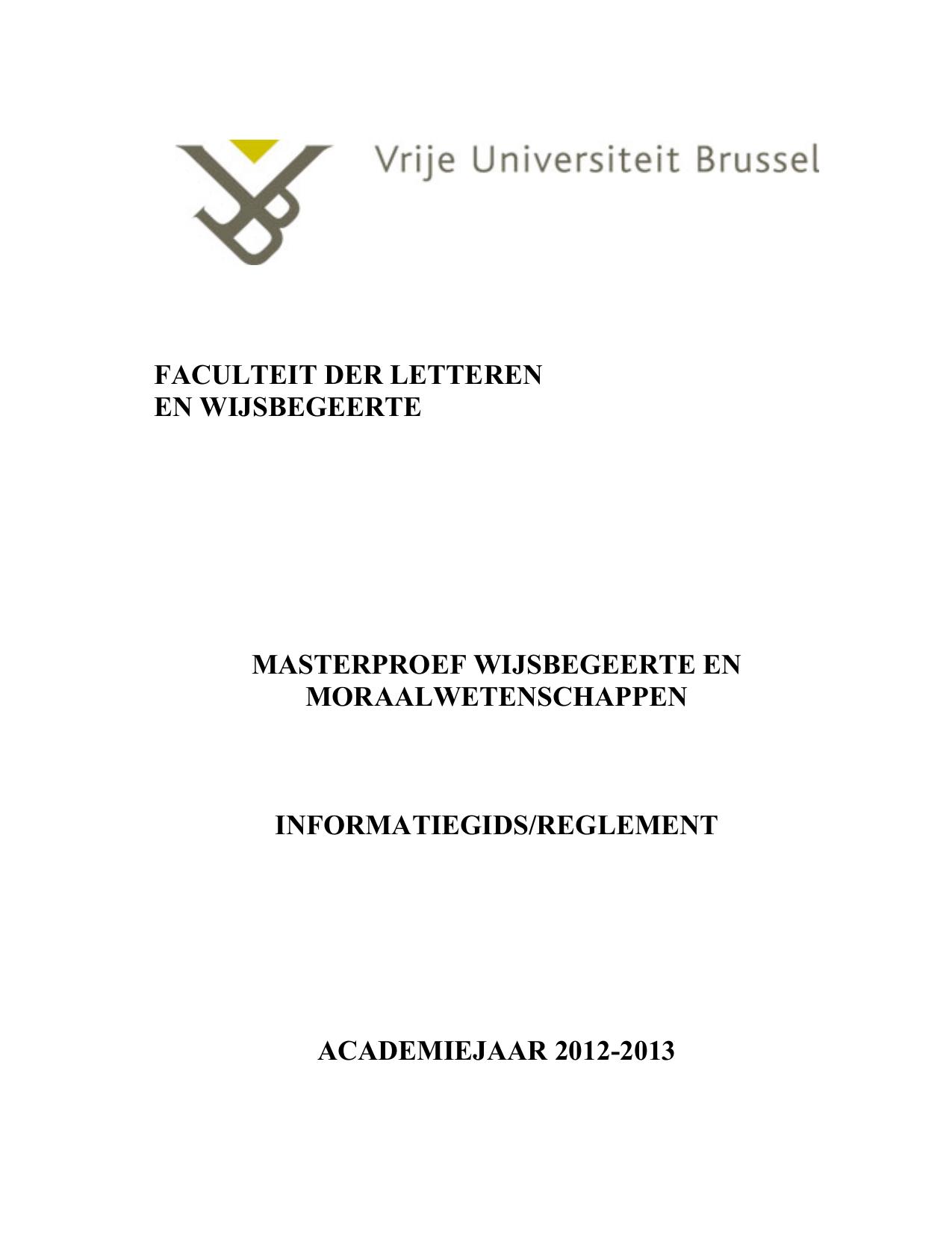 thesis ugent letteren en wijsbegeerte