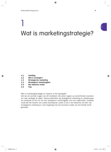 Wat is marketingstrategie?