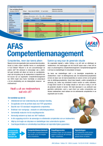 AFAS Competentiemanagement - AFAS Dev