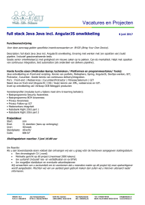 full stack Java Java incl. AngularJS onwikkeling