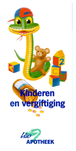 folder kinderen en vergiftiging