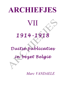 7 1914-1918 DUITSE PUBLICATIES IN BEZET BELGIË