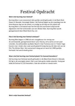 Wat is het burning man festival?