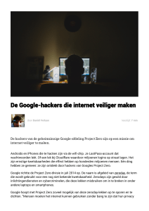 De Google-hackers die internet veiliger maken | Bright Ideas