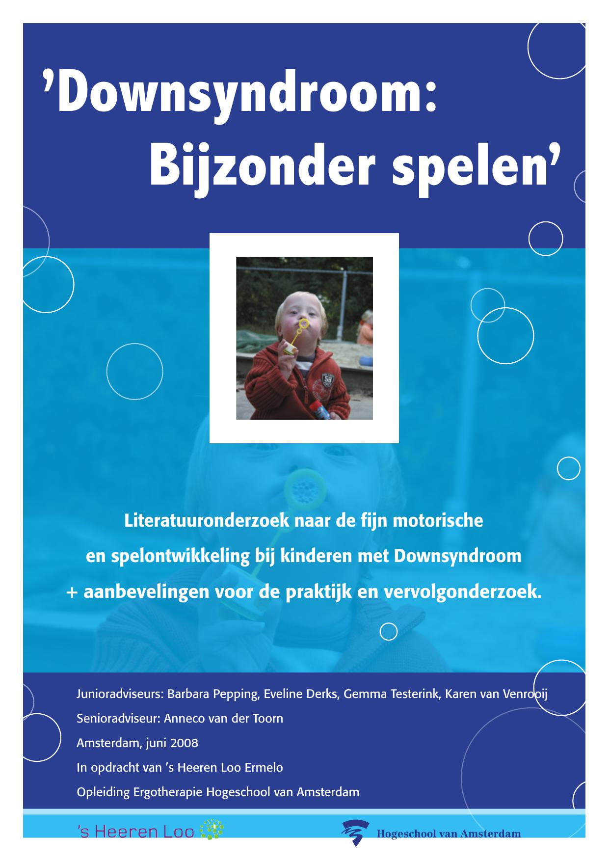 `Downsyndroom: Bijzonder spelen`