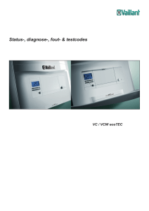 Informatie over foutcodes ecoTEC Type apparaten VCW