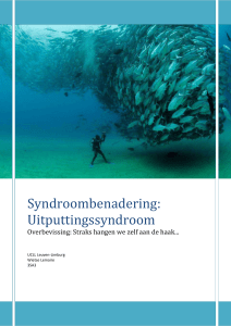 Syndroombenadering: Uitputtingssyndroom