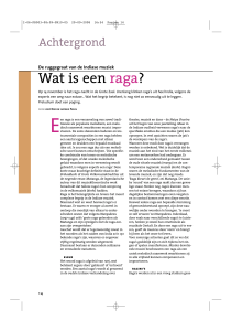 Wat is een raga? - the website of JOEP BOR