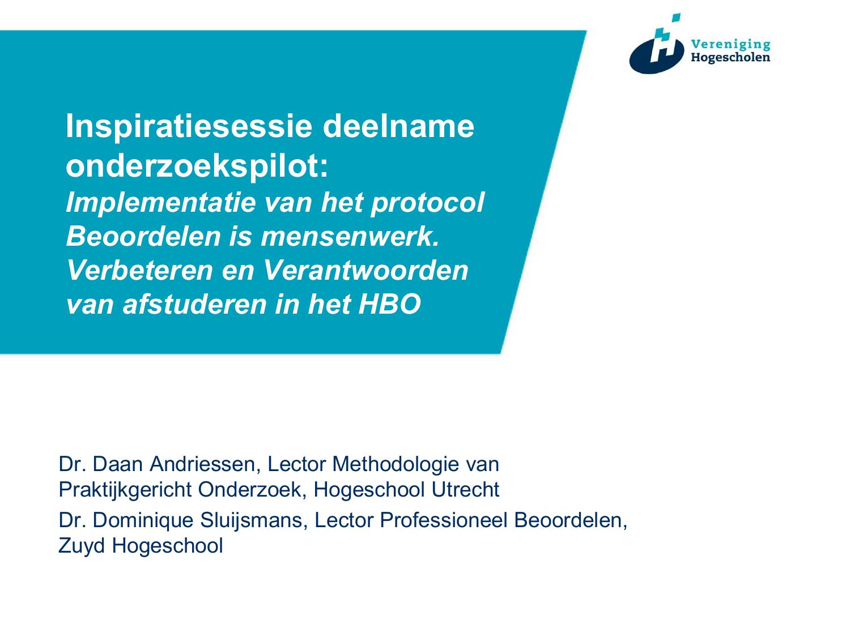 Powerpoint Presentatie Vereniging Hogescholen