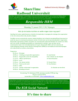 ShareTime Radboud Universiteit Responsible HRM