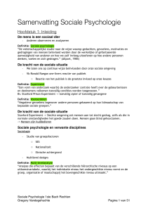 Samenvatting Sociale Psychologie.pages - Gent