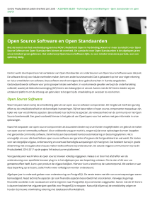 Open Source Software en Open Standaarden