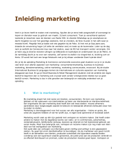 Inleiding marketing