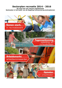 Sectorplan recreatie 2014 - 2016 - kikk