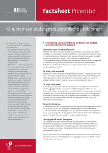 Factsheet Preventie