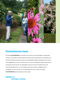Plantenkennis basis De training PLANTENKENNIS is een training