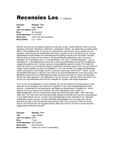 Recensies Los ( > Literom)