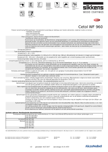 Cetol WF 960 - Sikkens - Technical Data Sheets