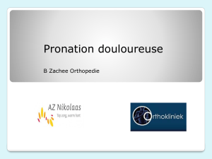 Pronation douloureuse B Zachee Orthopedie What`s in a name