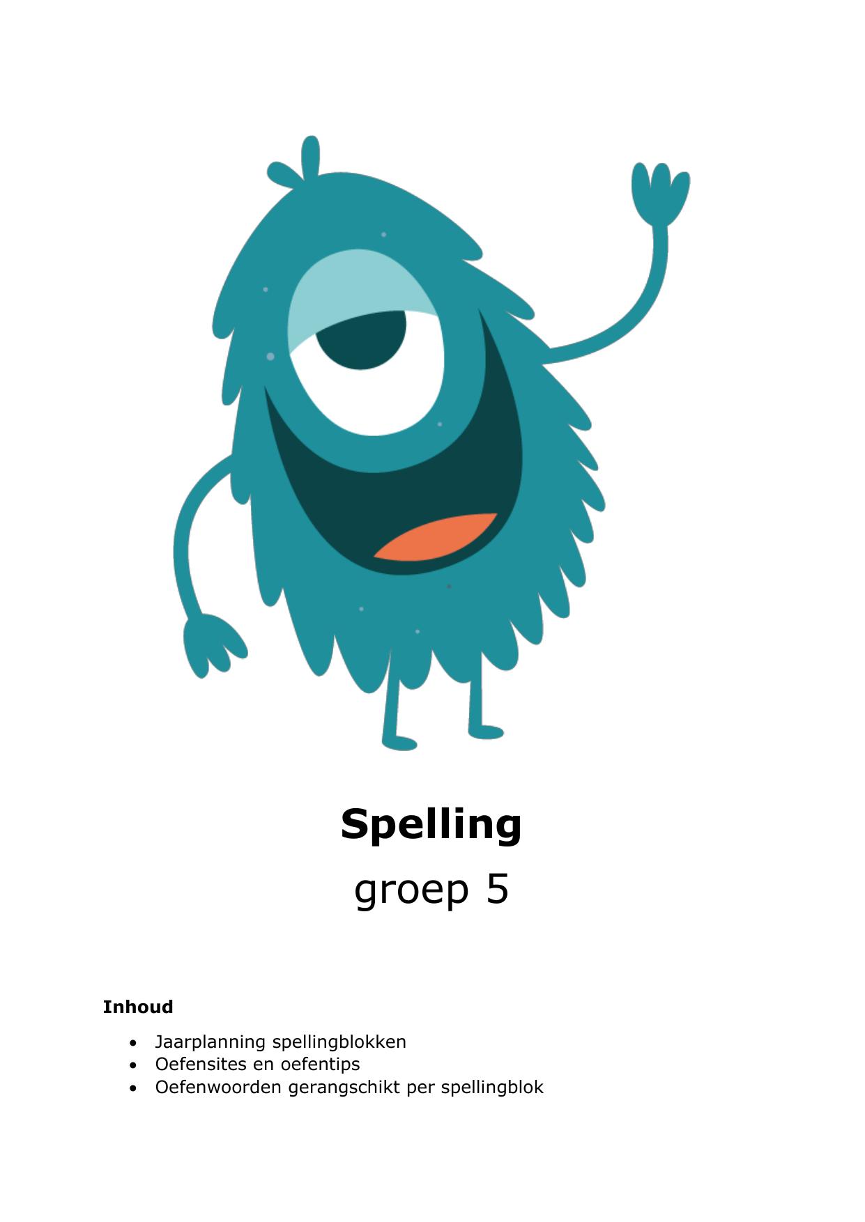 Populair Spelling groep 5 &EM76