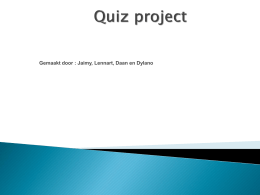 Quiz project - BS De Lindegaerd