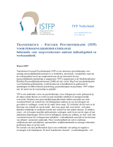 transference - focused psychotherapie (tfp)