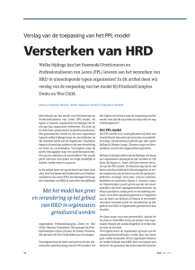 Versterken van HRD - The Human Network